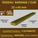 Tasseau 22x45 Douglas Choix 2-3 Raboté pour Bardage