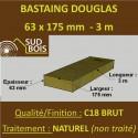 Bastaing / Madrier 63x175 Douglas Naturel Brut 3M