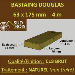 Bastaing / Madrier 63x175 Douglas Naturel Sec Brut Qualité Charpente 4m