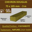 Chevron 75x105mm Douglas Naturel Sec Raboté Qualité Charpente 3m