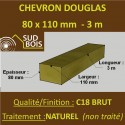 Chevron 80x110mm Douglas Naturel Brut 3M
