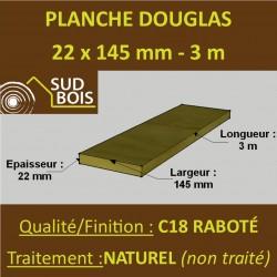 Lame de Terrasse Bois FINO 21x145 Douglas Naturel 2nd Choix 3m