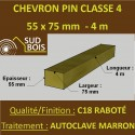 Chevron Lambourde 55X75mm Pin Autoclave Marron Cl.4 Raboté 4M