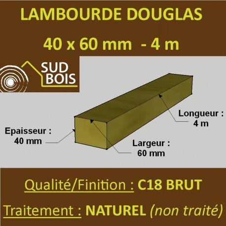 Lambourde / Tasseau 60x40mm Douglas Naturel 4m