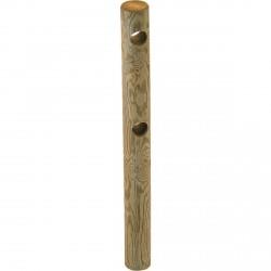 Poteau Bois Extrémité pour Clôture 2 Lisses Pin Classe 4 Ø140mm 1.5m