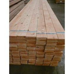 * Planche 27x145 Douglas Naturel Raboté Angles Arrondis Coff. 4m