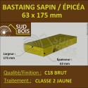 ↕ Bastaing / Madrier 63x175 Épicéa Brut Traité Classe 2 Jaune (à la palette)