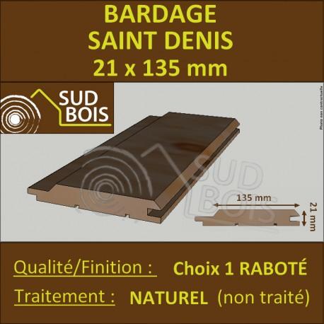 Bardage St DENIS Douglas 1er CHOIX 21x135mm Naturel PRIX AU M²