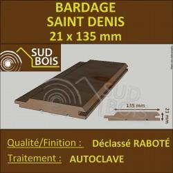 ► Lame de Bardage Bois St Denis 21x135 Douglas Autoclave Marron Choix Déclassé Prix/m²