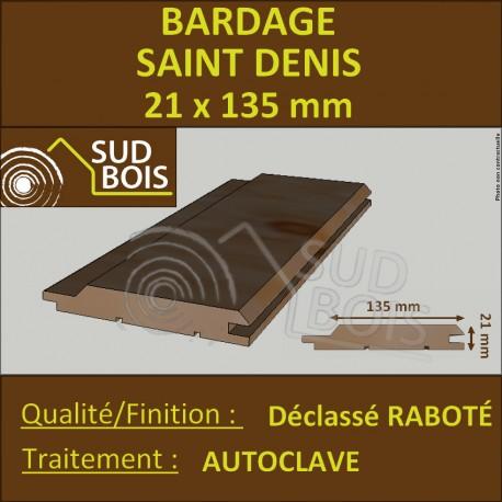 Bardage St DENIS Douglas Déclassé 21x135mm Autoclave PRIX AU M²