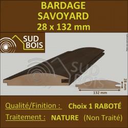 Bardage SAVOYARD Douglas 1er CHOIX 28x132mm Naturel PRIX AU M²