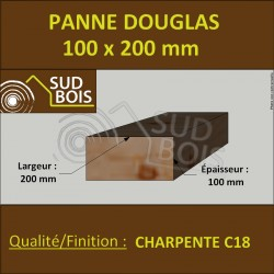 ↕ ◙ Panne / Poutre Bois 100x200 Douglas prix au mètre