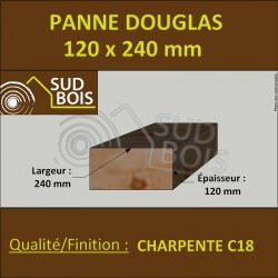 ↕ Panne / Poutre 120x240 Douglas prix au mètre