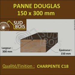 ↕ Panne / Poutre 150x300 Douglas prix au mètre