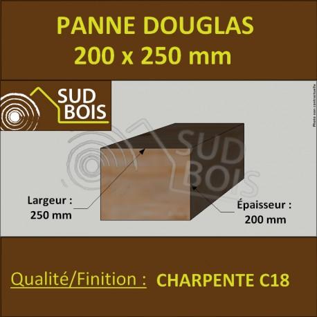 Panne / Poutre 200x250 Douglas prix au mètre