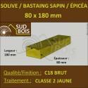 * ↕ Solive 80x180 Sapin / Épicéa Traité Classe 2 Jaune (à la palette)