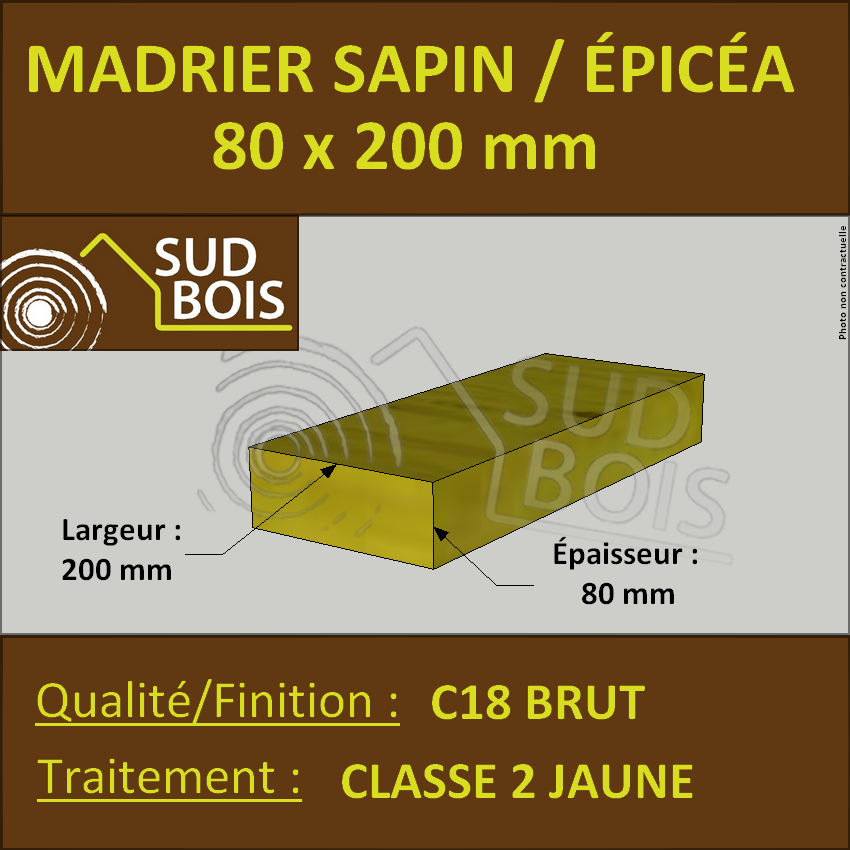 Bastaing Sapin Traite Classe 2 50 X 150 Mm Long 5 M Bricoman