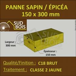 * ↕ ◙ Panne 150x300 Sapin/Épicéa Classe 2 Jaune (à la palette)