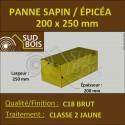 * ↕ Panne 200x250 Sapin/Épicéa Classe 2 Jaune (à la palette)