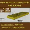 * ↕ ◙ Planche 40x200 Sapin / Épicéa Jaune (à la palette)
