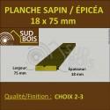 * Planche 18x75 Sapin/Épicéa Brut Non Traité (à la palette)