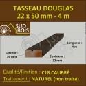 Tasseau 22x50mm Douglas Naturel Calibré 4m