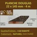 Lame de Terrasse Bois FINO 21x145 Douglas Naturel 2nd Choix 4m