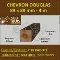 Chevron / Poteau 89x89 mm Douglas Naturel Raboté 4M