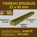 ♦ Tasseau 22x45 Douglas Choix 2-3 Naturel Raboté 3m