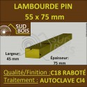 Chevron Lambourde 55X75mm Pin Autoclave Marron Cl.4 Raboté au ml