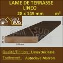 Lame Terrasse Lineo 28x145 Douglas Autoclave Marron Déclassé Prix au m²