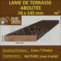 ♦ Lame Terrasse Aboutée 28x145mm Douglas Naturel Lisse - Prix / m²