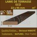 ► Lame de Terrasse Bois ECO 21x95 Douglas Naturel 2nd Choix Prix/m²
