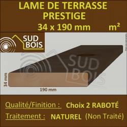 ► Lame de Terrasse Bois PRESTIGE 34x190 Douglas Naturel 2nd Choix Prix/m²
