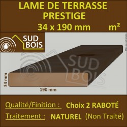 Lame Terrasse PRESTIGE 34x190mm Douglas Naturel Choix2 Prix au m²