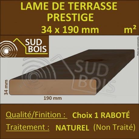 Lame Terrasse PRESTIGE 34x190mm Douglas Naturel Hors Aubier au m²