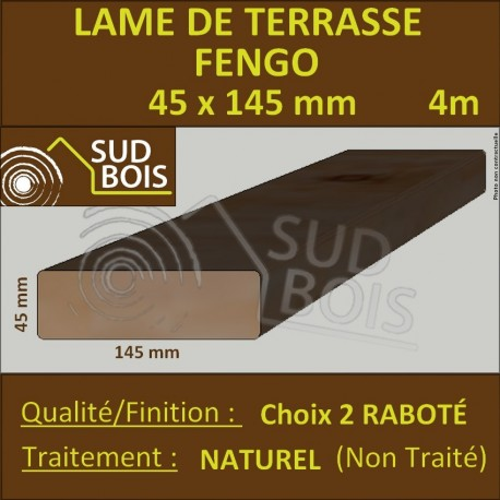 Lame Terrasse FENGO 45x145mm Choix 2 Douglas Naturel 4m