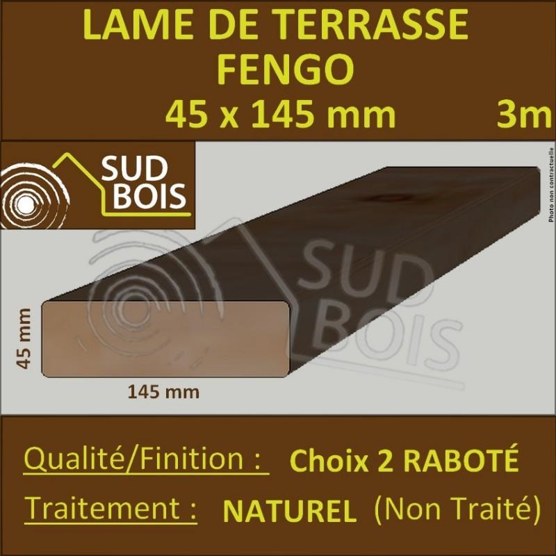 lame terrasse 45x145mm fengo douglas naturel choix 2 en 3m sud bois terrasse bois discount. Black Bedroom Furniture Sets. Home Design Ideas