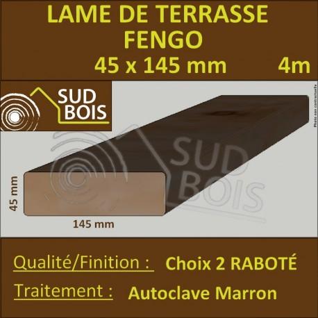 Lame Terrasse FENGO 45x145mm Choix 2 Douglas Autoclave Marron 4m