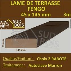 Lame Terrasse FENGO 45X145mm Autoclave Marron Choix 2 en 3m
