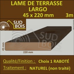 Lame de Terrasse LARGO 45X220mm Douglas Naturel Choix1 3m