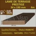 Lame de Terrasse PRESTIGE 34x190mm Douglas Naturel 2ème Choix 4m