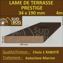 Lame de Terrasse PRESTIGE 34x190mm Douglas Autoclave Marron Choix 1 4m