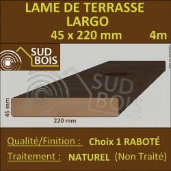Lame de Terrasse LARGO 45X220mm Douglas Naturel Choix1 4m