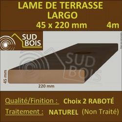 Lame de Terrasse LARGO 45X220mm Douglas Naturel Choix2 4m
