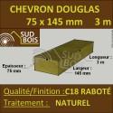 Solive / Bastaing 75x145 Douglas Naturel Sec Raboté Qualité Charpente 3m