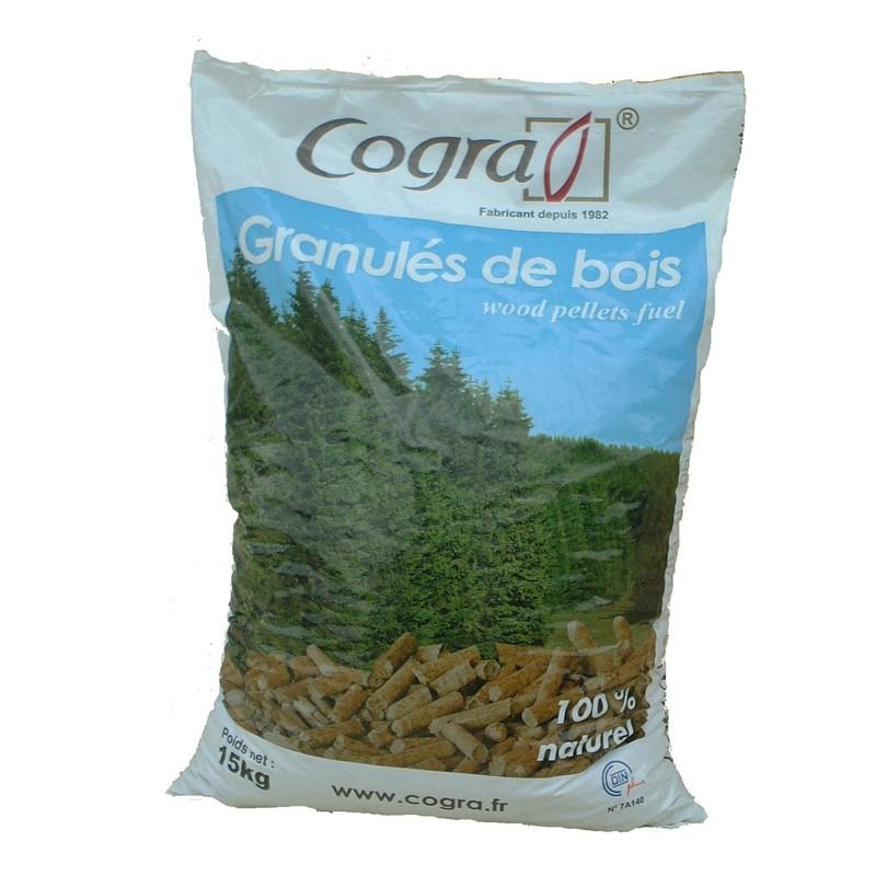 Sac De 15 Kilos De Granules De Bois Pellets Din Cogra Livraison Gratuite Zone A1 Sud Bois Terrasse Bois Direct Scierie