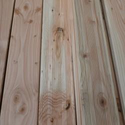 Lame de Terrasse Douglas Naturel 27x145mm Striée Choix 2 en 4m