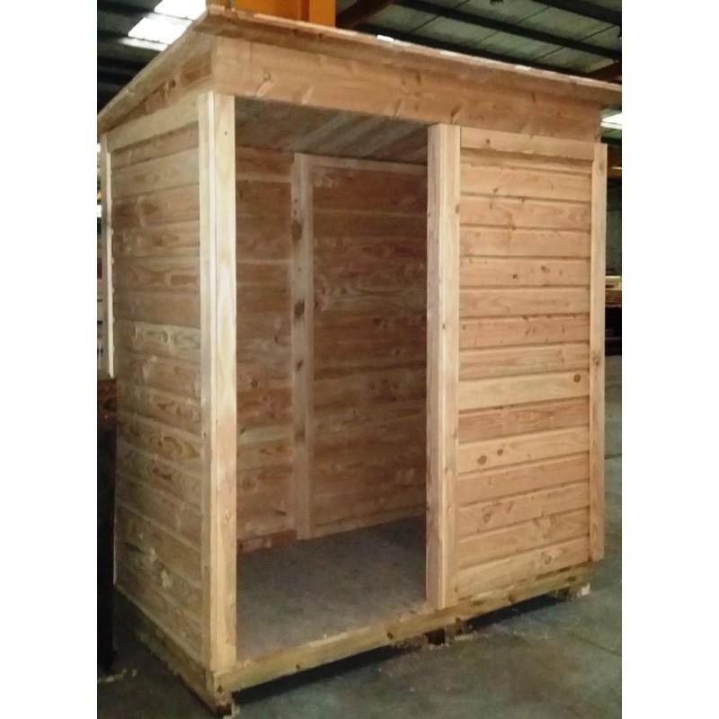 abri de jardin en bois douglas naturel 2m robuste facile monter sud bois terrasse bois. Black Bedroom Furniture Sets. Home Design Ideas