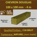 * Palette de 33 Chevrons 100x100 Douglas Naturel Brut 4M